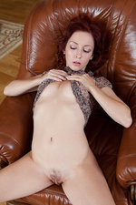 Redhead hotty playing with her pussy-09