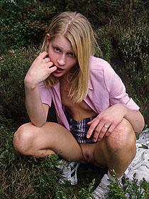 Teen outdoor upskirts