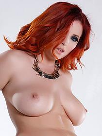 Busty redhead babe Lucy V