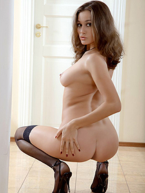 Ashley in sexy stockings