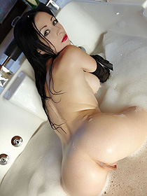 Naked Girl Exposed Her Hot Ass In The Bathtub