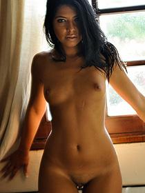 Sexy Latina Babe Cara Strips