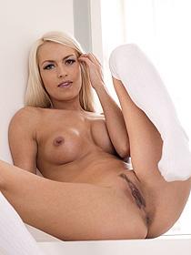 Sexy Lena In White Socks