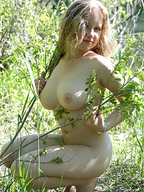 Busty Natural Teen In The Forest