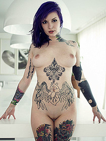 Busty Katherine Really Likes Tattoos