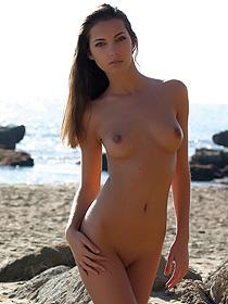 Irene Posing At The Beach