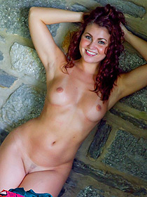 Curly Redhead Ani Undressing