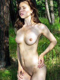 Anita Gets Nude In The Forest