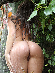 Maddy Showering Her Sexy Body Outdoor