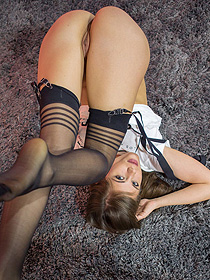 Little Caprice Gets Horny In Stockings