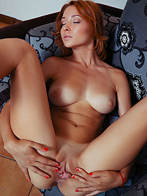 Lovely Redhead Girl Gets Horny