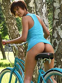 Susi Rides On A Bike