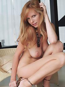 Busty Monika Posing Nude