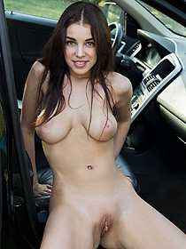 Evita Lima Is Nude In A Car
