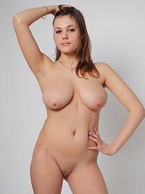 Lora Exposes Her Really Big Natural Boobs