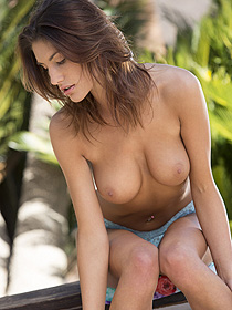 Sexy August Ames Gets Nude