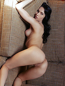 Naked Black Haired Dita Gets Horny