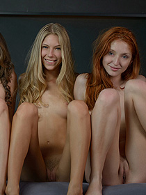 Four Sexy Young Models Having Fun