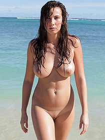 Connie Is Nude At The Beach