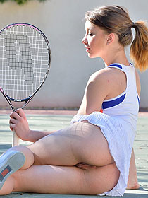 Naughty Teen Playing Tennis