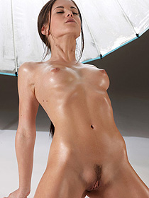 Little Caprice Shows Her Oiled Body