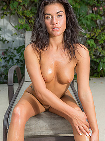 Britney Knox Oiled Her Hot Body In The Garden