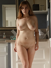 Natural Busty Natalie Undressing At Home