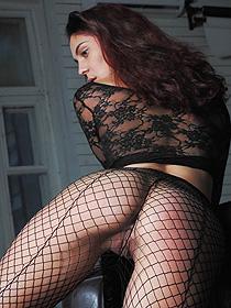 Callista In Sexy Fishnet