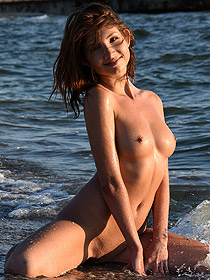 Arlene Is Naked At The Beach