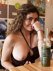 Gillian Barnes Flashing Her Big Boobs In Public