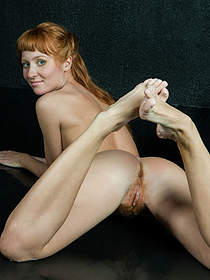 Hot Redhead Teen With Hairy Pussy