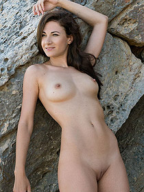 Lauren Posing Naked Outdoors