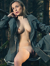 Aislin Posing In The Woods
