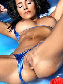 Rita G Blue Bikini In Tanning Tub