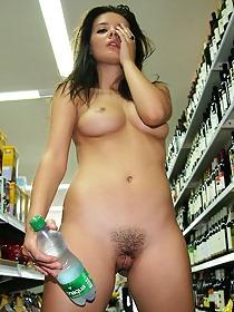 Naked girl presenting her body in public