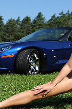 Naked girl with a corvette-05