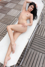Hot Lady Dee Relaying On The Balcony-09