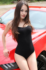 Naked Sexy Li Moon Loves Fast Cars-03