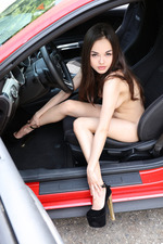 Naked Sexy Li Moon Loves Fast Cars-13