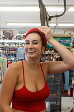 Sidney Alexis Flashing Her Big Tits In Public-10